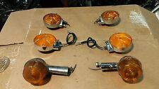 Harley Shovelhead Turn Signal Lot Yankee 1030 Amber Lenses Front Rear FL FLH FX