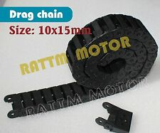 2 Pcs 10x15mm Black Plastic Drag Chain Cable Carrier for CNC Router Mill