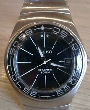 SEIKO Womens S-Wave 10 Bar Stainless Steel Watch 7N42-OAAO. Collectable.