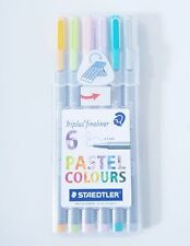 STAEDTLER triplus fineliner 334SB6CS1  0.3mm  6 assorted PASTEL colors Pen SET