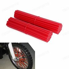 Red Spoke Wraps Covers Kit Fit 17~21 Inches Wheel Dirt Bikes MX Enduro Supermoto
