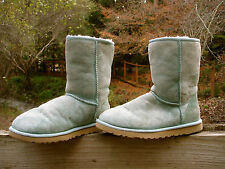 UGG Australia Blue Green Classic Short Suede Sheepskin Ankle Boot 5825 Womens 8