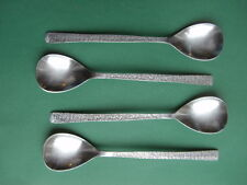 VINERS STUDIO: Four Stainless Steel Teaspoons (13cm) - very nice used condition