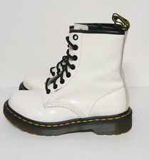 Dr. Martens Boots White Leather Combat 8 Eye The Original Womens 6 M Shoes Docs
