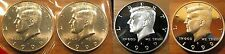 1999 DPSS BU & Proof Clad & Silver Kennedy Half Dollar 4 Coin Set From Mint Sets