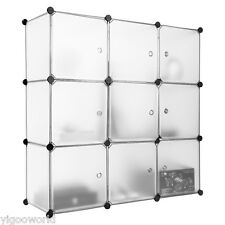 9 Modular Storage Clothes Closet Wardrobe Rack Shoes Toys Cube Organizer Shelves