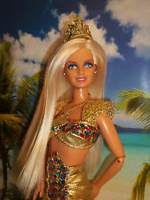 Retro 1996 Barbie Doll with JEWEL HAIR MERMAID SET  WITH DOLL -490