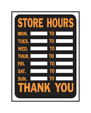New! Hy-Ko English 9 in. H x 12 in. W Plastic Sign Store Hours 3030