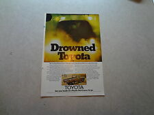"1976 Toyota SR-5 Truck Vintage Magazine Ad ""Drowned Toyota"""