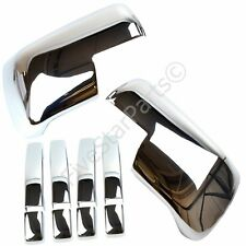 Chrome Set Door Handles & Full Mirrors Covers for Land Rover Discovery 3 2005-09