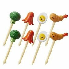 Broccoli Octopus Shrimp Egg shaped Food Picks 8pc #9239 S-3741
