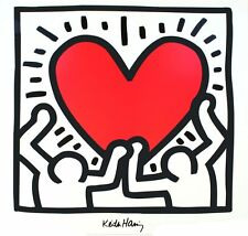 Untitled (1988) - Keith Haring Art Print 1988 Offset Lithograph Poster 27.5x27.5