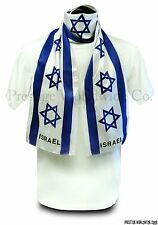 Israel Flag Print Scarf *NEW* One-Size-Fits-All Israeli Wrap Banner Stole Sash