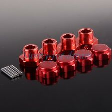 RC 1:8 Car Aluminum 17mm Rim Wheel Hex Mount Hub Nuts Cover Pin 80121 RED 4PCS