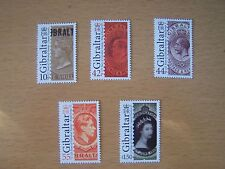 GIBRALTAR 2011,125TH ANNIV OF GIBRALTAR STAMPS,5 VALS,U/M,CAT £12.10.EXCELLENT..