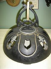 """Antique Cast Iron Wood Stove Helmet with opening for stove pipe 8"""" x 4 1/4"""" 7793"""