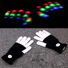 LED Blitz Finger leuchten bunte Beleuchtung Party Partei Halloween Handschuhe