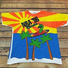 VTG 90s SURF All Over Print SCENIC L Beach NRA Anchor Foods JALAPENO T Shirt