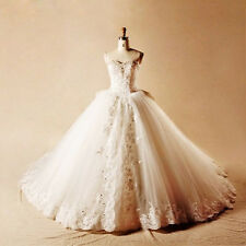 Corset Wedding Dress Real Sample Beading Embroideried Long Train Dress For Bride