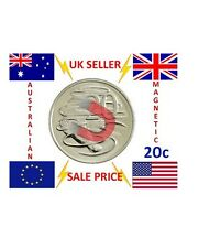 STRONG MAGNETIC 20 CENT AUD AUSTRALIAN DOLLAR MAGIC TRICK COIN