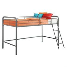DHP Metal Junior Metal Twin Loft Bed in Silver