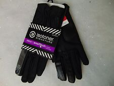 Isotoner SmarTouch Stretch Gloves Black Gathered Thermaflex Lined XS/S #C168