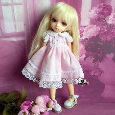 1/6 BJD Dress Dollfie DIM AOD DOD Lolita Lace Pink skirt YOSD Tiny Clothing 007