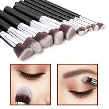 10pcs Kabuki Style Make Up Brush Set Face Powder Foundation Blusher - Style 1