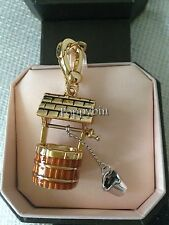 RARE! BRAND NEW JUICY COUTURE WISHING WELL W/ PAIL BRACELET CHARM IN TAGGED BOX