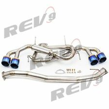 """REV9 09-17 GTR R35 3"""" TITANIUM TURBO CATLESS OUTLET DOWNPIPE GT-R 20HP +"""