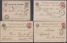 RUSSIA, 1882-1915. Post Cards (16), Sweden