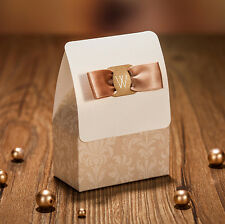 500 PCS Wedding Favour Favor Sweet Cake Gift Candy Boxes Bags Anniversary