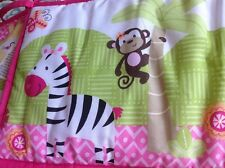 Garanimals crib bedding for girls safari design polyester blend multi color