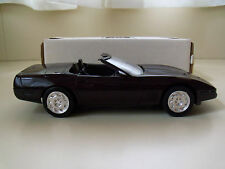 AMT / ERTL 1992 CHEVROLET CORVETTE CONVERTIBLE (BLACK ROSE) DEALER PROMO MODEL