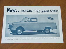 c1964 Datsun Coupe Ute original Australian double sided single page brochure