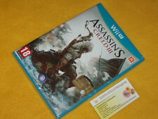 ASSASSIN'S CREED 3 III Nintendo Wii u NUOVO SIGILL. UFFICIALE ITALIANO NO IMPORT