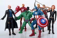 7X The Avengers Hulk+Captain+Ironman+Batman+Spiderman Action Figure Collection