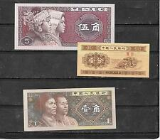 CHIAN PRC 3 DIFFERENT UNC BANKNOTE PAPER MONEY CURRENCY BILL NOTE LOT COLLECTION