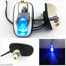 2 X 12V Blue LED Car Windshield Spray Nozzle Wiper Washer Eyes Decoration Lights