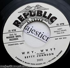 "PROMO ONLY 1961 BETTY JOHNSON HOW DO YOU TELL YOUR HEART 7"" VINYL 45 NM POPCORN"