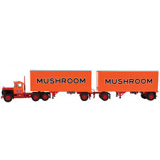 1:64 First Gear *MUSHROOM TRANSPORT* Mack R Semi Truck w/2 BOX TRAILER *NIB!*