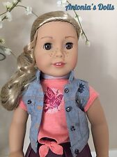 "American Girl Tenney Grant Doll & Book New NIB 18"" with Woven Bracelet Tenny"