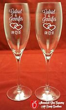 2 Personalized Dom Perignon Signed / Crystal Champagne Flutes With Dot & Shield