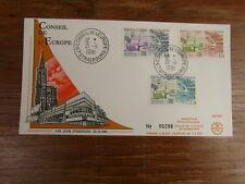 1 x FDC PREMIER JOUR FRANCE 21/11/1981 Conseil europe 3 valeurs RARE (400 ex.)