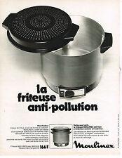 PUBLICITE  1973   MOULINEX   friteuse