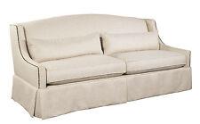 SEBASTIAN  SOFA  100% natural linen off white down cushions / 8 way hand tied