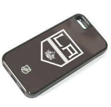 for iPhone 5C - Black LA KINGS Hockey Hard Rubber Gummy TPU Skin Case Cover