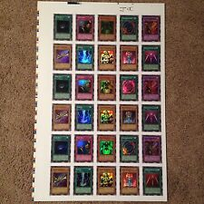 YUGIOH LEGEND OF BLUE EYES WHITE DRAGON LOB SUPER RARE UNCUT SHEET