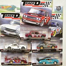 HOT WHEELS 2016 CAR CULTURE TRACK DAY DATSUN BLUEBIRD VW PORSCHE CHEVY SET OF 5