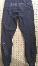 LULULEMON for SOULCYCLE Speed Crop Pants Black size 4 Spin Cycle Run Gym